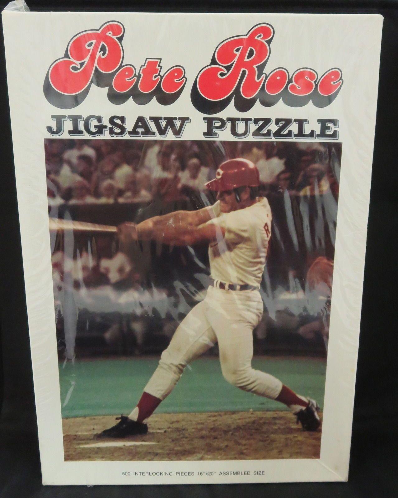 Pete Rose 1972 Jigsaw Puzzle Still in Original Packaging