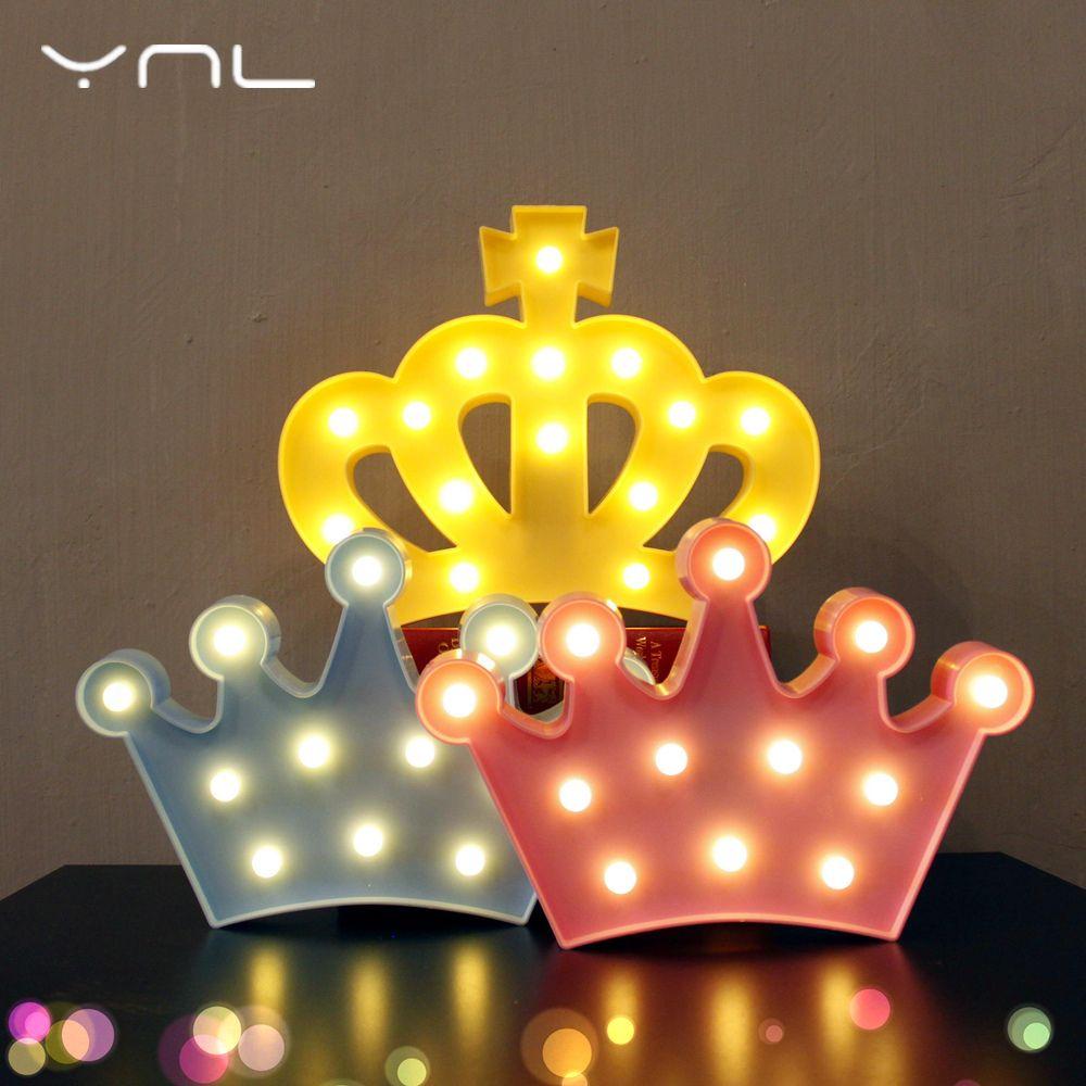 3D Night Light Lovely Flamingo Crown Children Cactus Star Cloud ...
