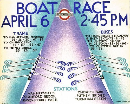 1935 Oxford Cambridge University Boat Race Poster A3 Print