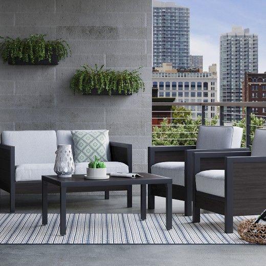 Faux Wood Patio Furniture Set - Threshold