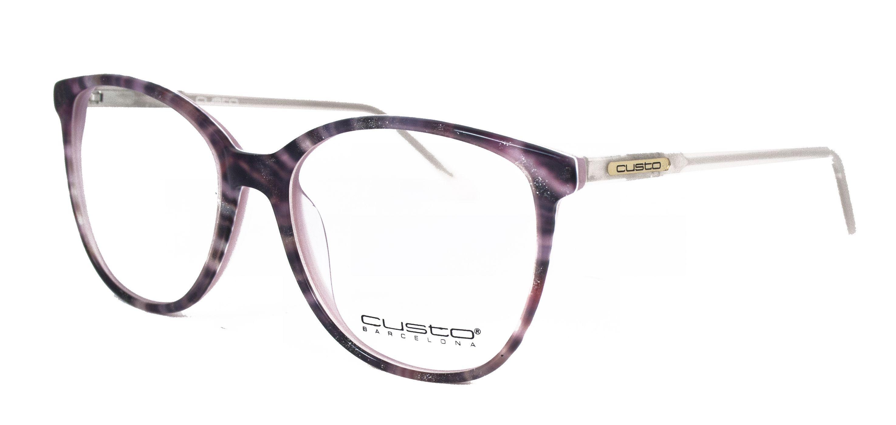 Gafas diseñadas por Custo Barcelona para Opticalia. Montura color rosa con  detalles de brillo. 4c2ed70fe2e3