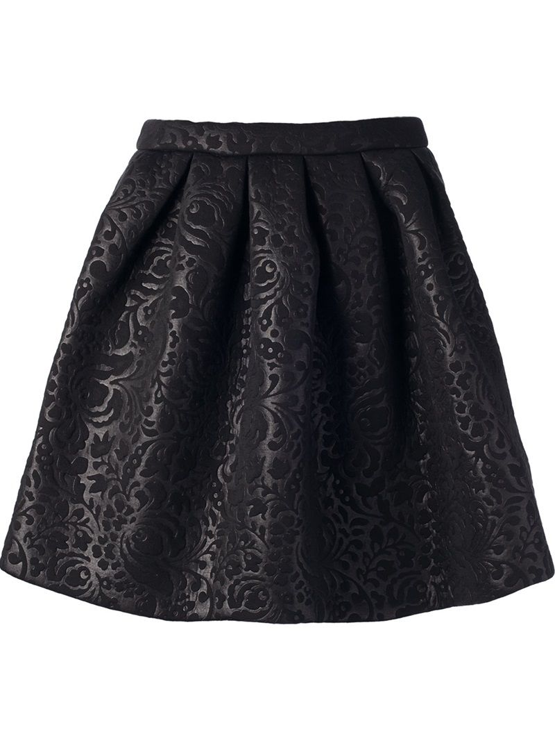 Gonna Campana stampata Africana Tribale Cocktail Party Ballo Print Midi Skirt S