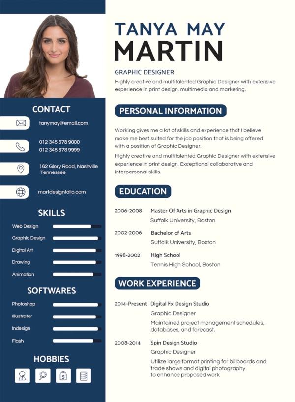 Job Resume Template Pdf Format Download Free Blank