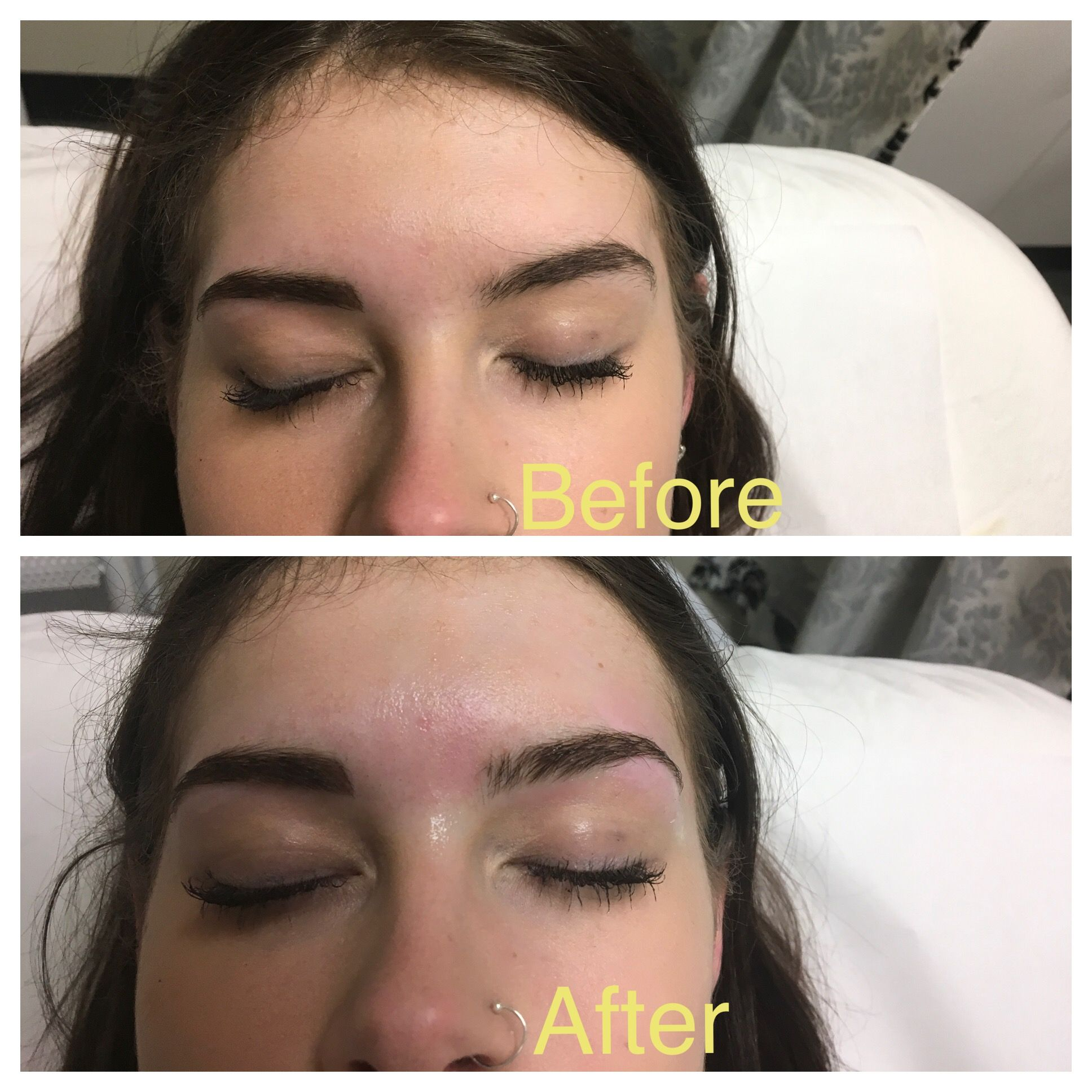 First Eyebrow Wax Before And After Not So Much Of A Difference But