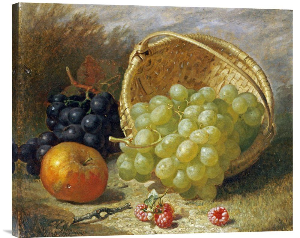 An Upturned Basket of Grapes | Buy buy, Paintings and Watercolor