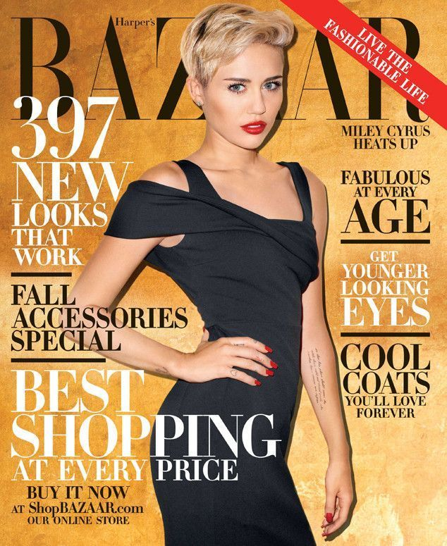 Miley Cyrus photographed by Terry Richardson for Harper's Bazaar, Oct. '13. Makeup by Frank B. Manicure by Alicia Torello. Production design by Andy Harman.