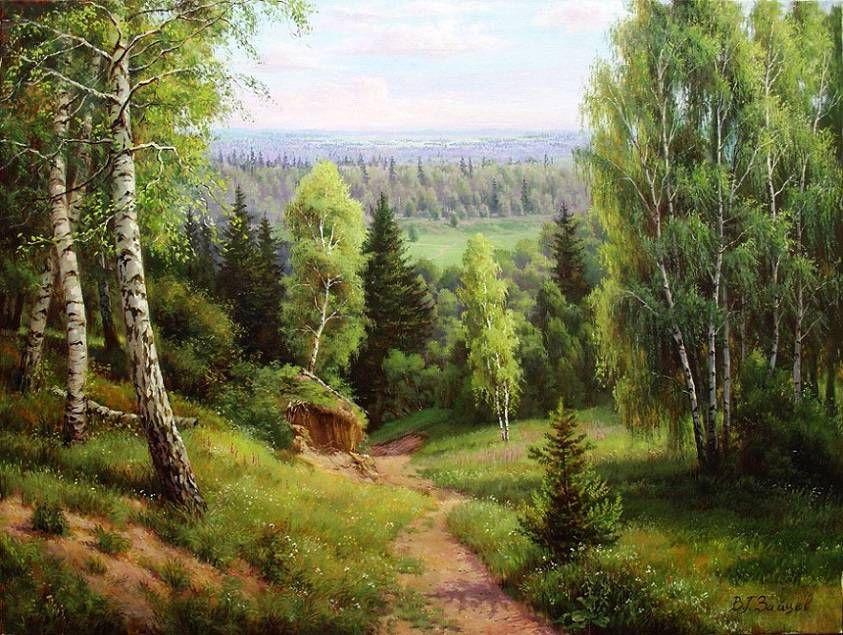 лес живопись картинки делом разберёмся тем