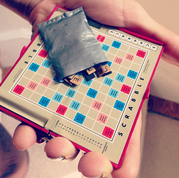 Changs And Changes Scrabbling Scrabble Mini Scrabble Game Handmade Games Miniture Things Scrabble