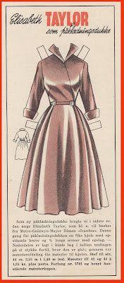 Ingrids Påklædningsdukker: Tempo 1953 Elizabeth Taylor