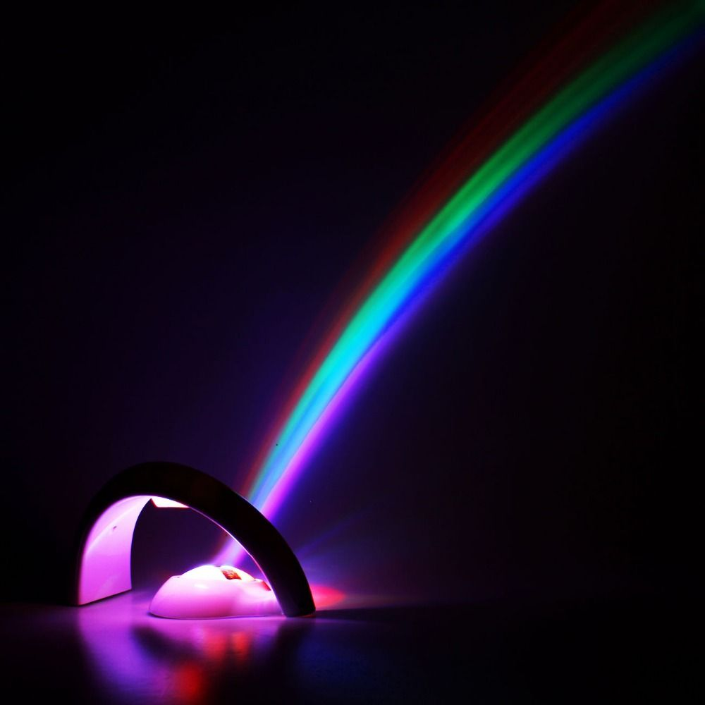 Led Lucky Rainbow Projector Room Night Light Color Lamp