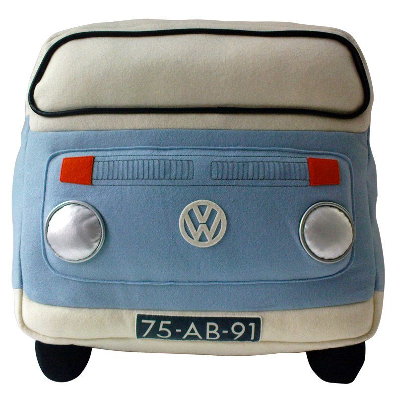 VW van pillow - VW bus pillow - felt pillow. €99.00, via Etsy.