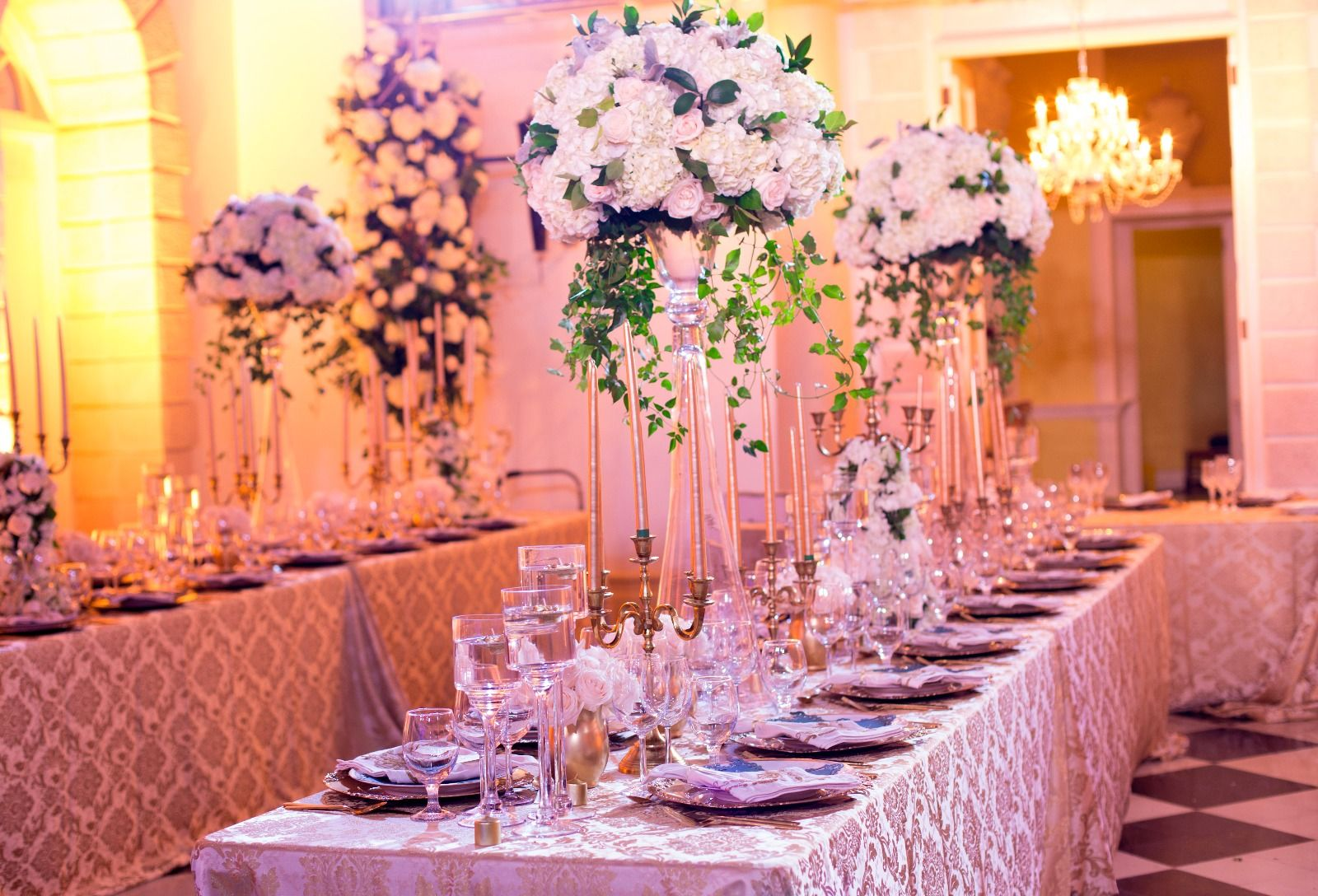 Wedding reception decor by Helen G Events at Trident Castle, Port ...