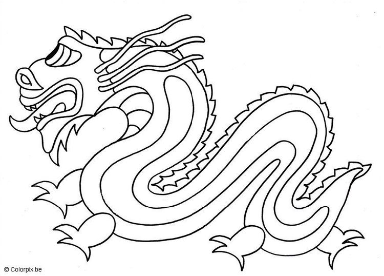 Coloring page chinese dragon - img 6813. | Rug Hooking Design Ideas ...