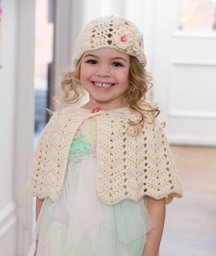 Ripple Hat and Capelet Free Crochet Pattern from Red Heart Yarns ...