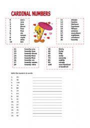 English worksheet: CARDINAL NUMBERS 1- 100   luz   Pinterest ...