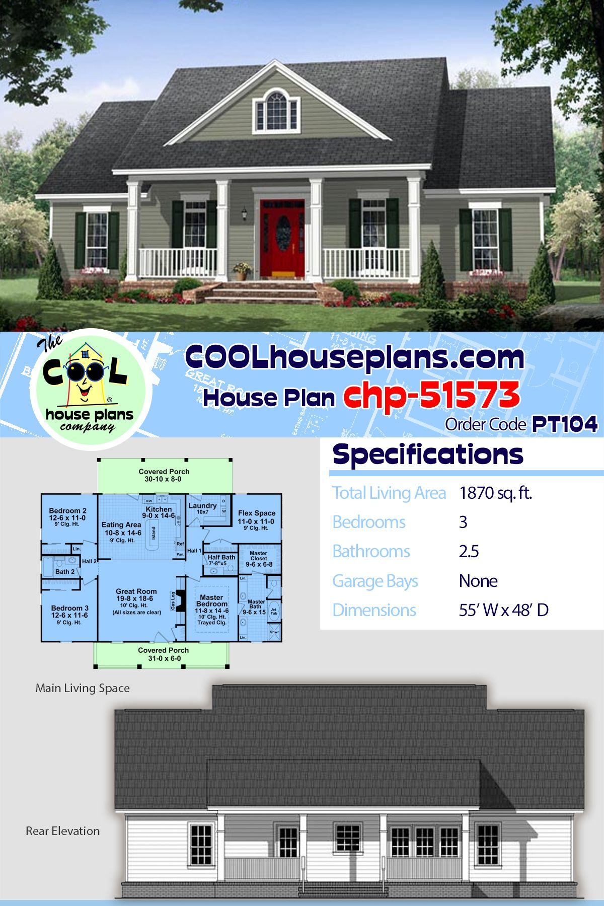 Traditional Style House Plan 59952 With 3 Bed 3 Bath Ranch House Plans House Plans Best House Plans