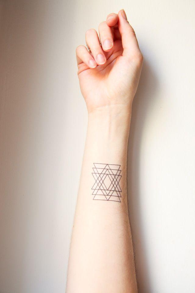 Triangle Tattoo Arm Tattoo Hoppa Tatoeages Tatoeage