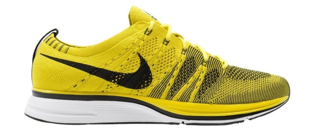 237c3af40319f Nike Flyknit Trainer Mens Running Shoes Bright Citron Black White  Nike   RunningShoes