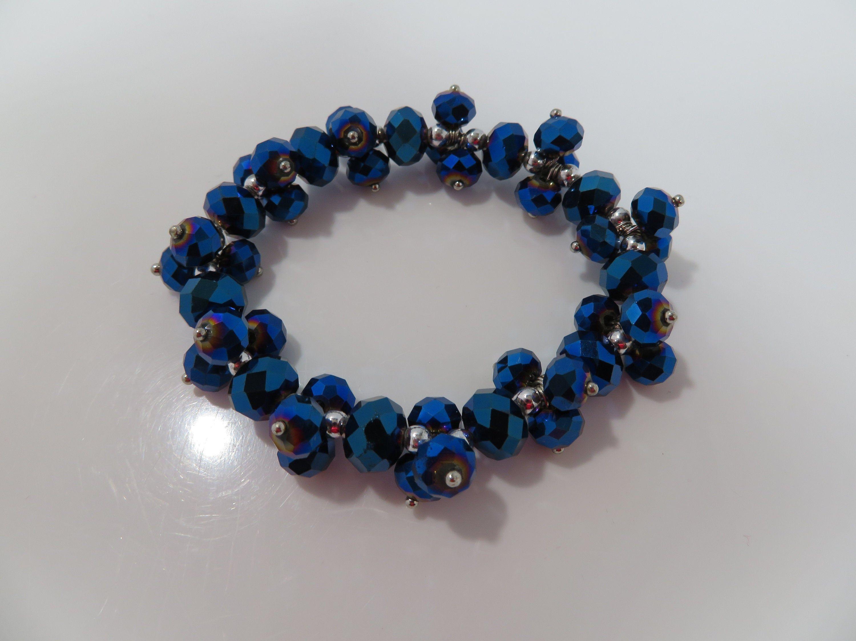 Blue Pearl Gemstone Bracelet gemstone Bracelet CLEARANCE SALE 30/% Blue Pearl and Sapphire Bracelet