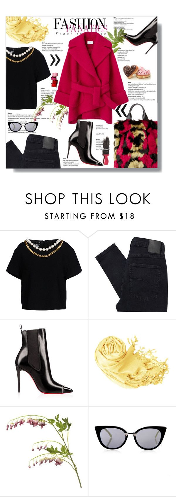 """""""Hijab"""" by sans-moderation ❤ liked on Polyvore featuring Boutique Moschino, Nobody Denim, OKA, Fendi, Avon, black and hijab"""