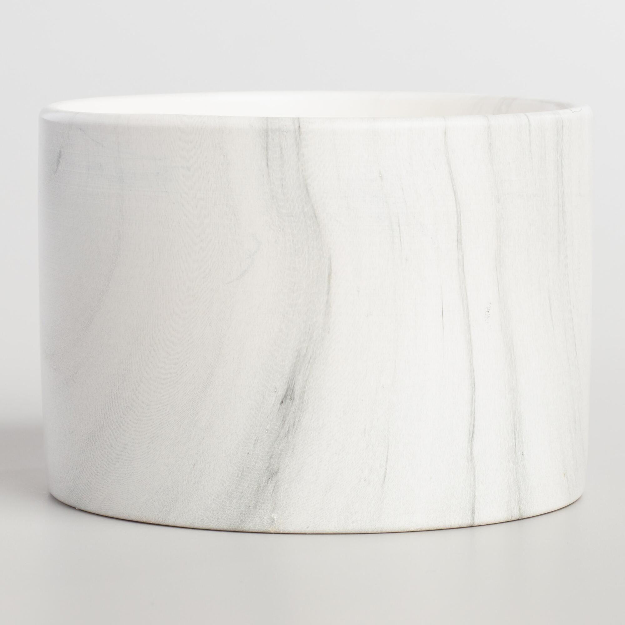 Red Cedar Marble Ceramic Jar Candle