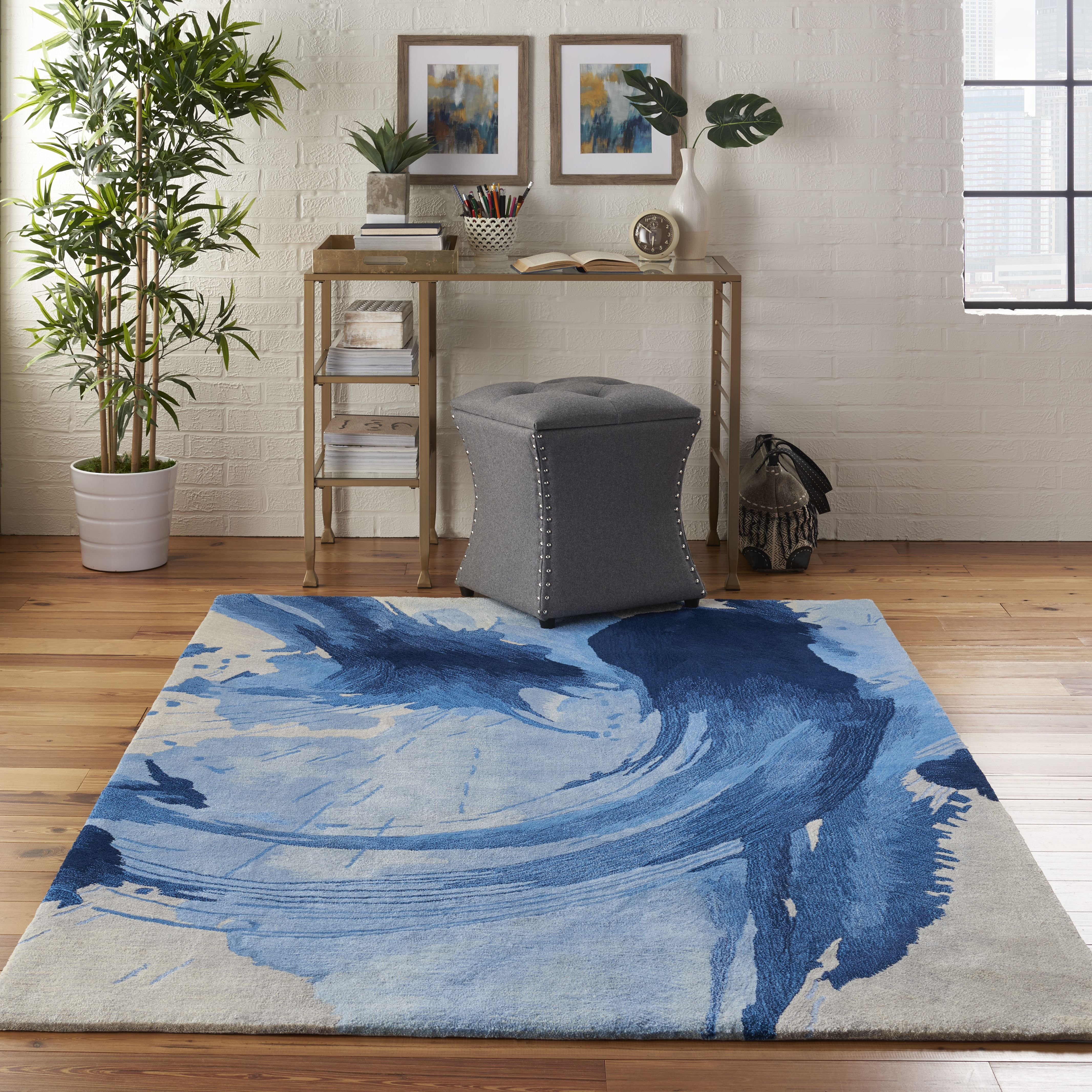 With Its Eye Catching Abstracts And Complex Weave Nourison S Symmetry Collection Of Contemporary Textured Rugs Makes An Imme Modern Rugs Rugs Traditional Rugs