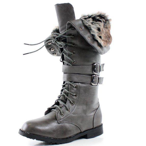 da2f734c6dabd Amazon.com: West Blvd Womens SHANGHAI WINTER Boots Lace Up Snow Fur ...