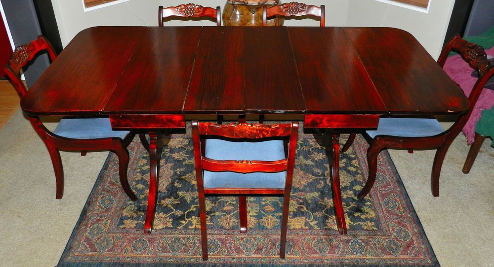 18++ Duncan phyfe dining table and chairs for sale Tips