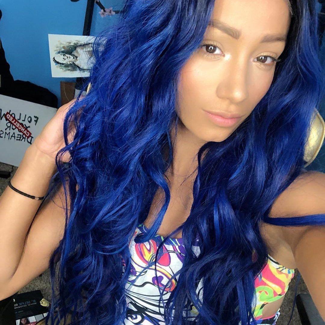Pin By Brian On Sasha Banks In 2020 Arctic Fox Hair Color Hair Blue Hair