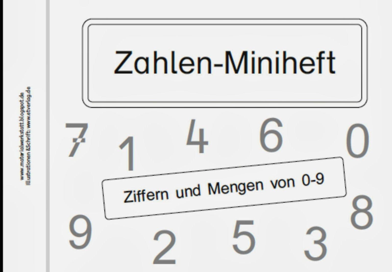 Materialwerkstatt Zahlen Miniheft Teil 2