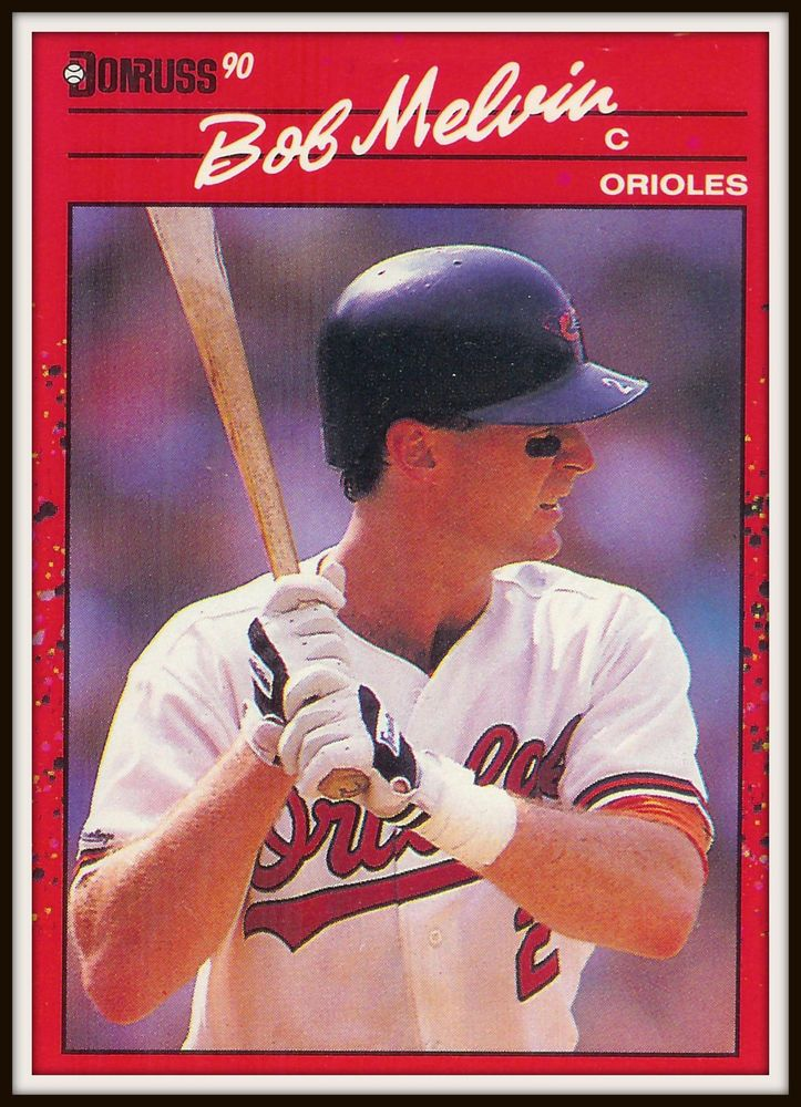 1990 donruss 451 bob melvin orioles baseball card mint