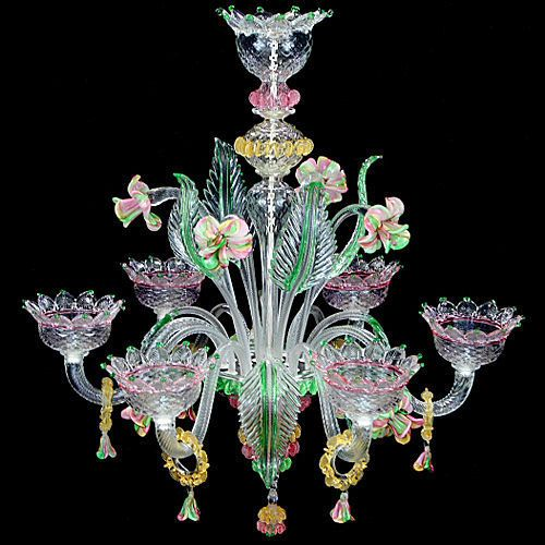 Classic style chandelier murano glass v star art l0700 6 classic style chandelier murano glass v star art l0700 6 multiforme lighting chalendier pinterest star art murano glass and classic style aloadofball