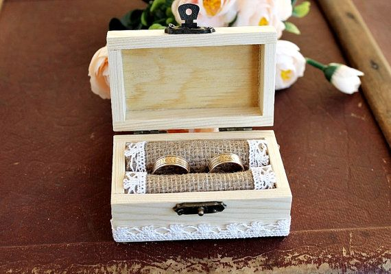 Wood Ring Box Wedding Ring Box Custom Ring by LittleWoodCottage