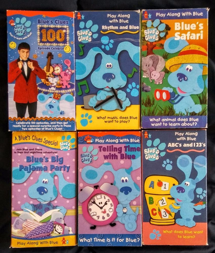 blues clues vhs lot of 6 100th episode more zach remember