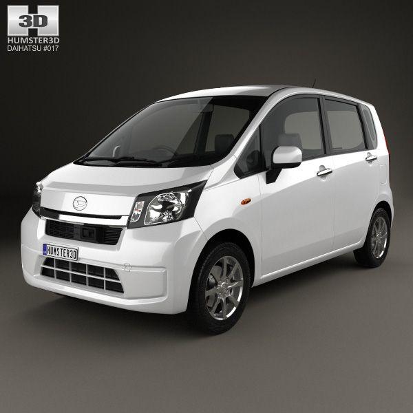 3d Model Of Daihatsu Move 2012 With Images Daihatsu Car 3d