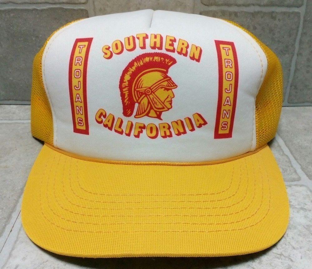 a2dbb42c6de79 NOS   NM Vintage Trucker Mesh Snapback Hat Cap - USC Trojans - College  Football  fashion  clothing  shoes  accessories  mensaccessories  hats  (ebay link)