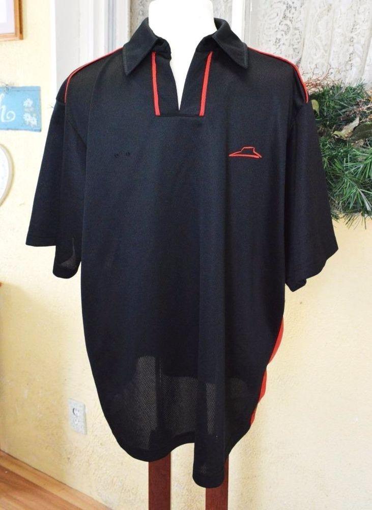 Pizza Hut Employee Uniform Shirt Team Member L Black Red Barco Uniforms PH330 #PizzaHutBarcoUniforms #PoloRugby