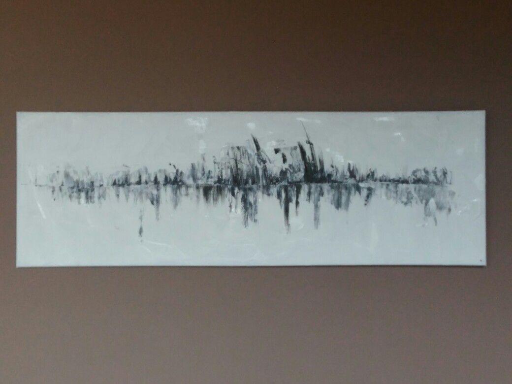 Acryl painting on canvas 120x40