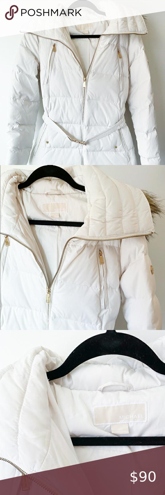 Michael Kors Belted Puffer Coat With Faux Fur Hood Faux Fur Hood Michael Kors Puffer Coat Puffer Coat [ 1740 x 580 Pixel ]