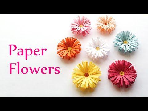 Diy Easy Paper Daisies Paper Spring Flowers Diy Projektek