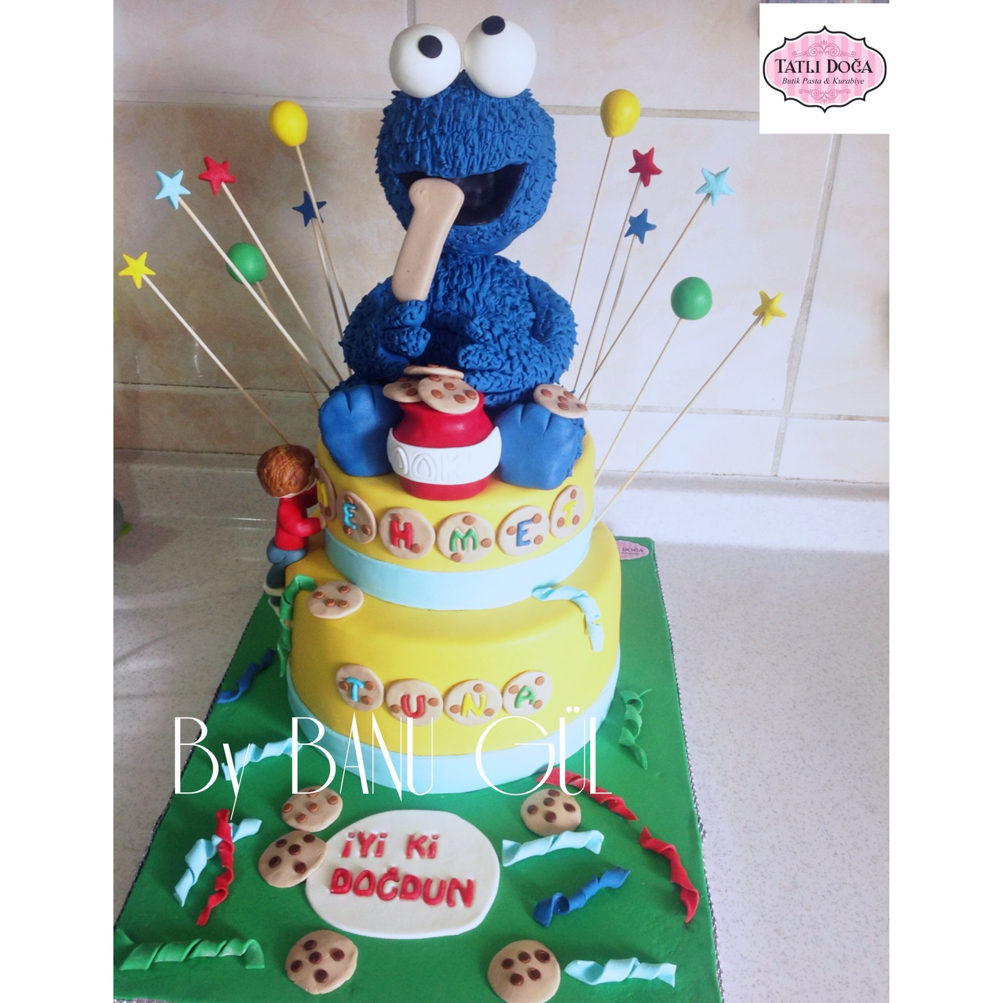 Baby Cookie Monster Cake Topper