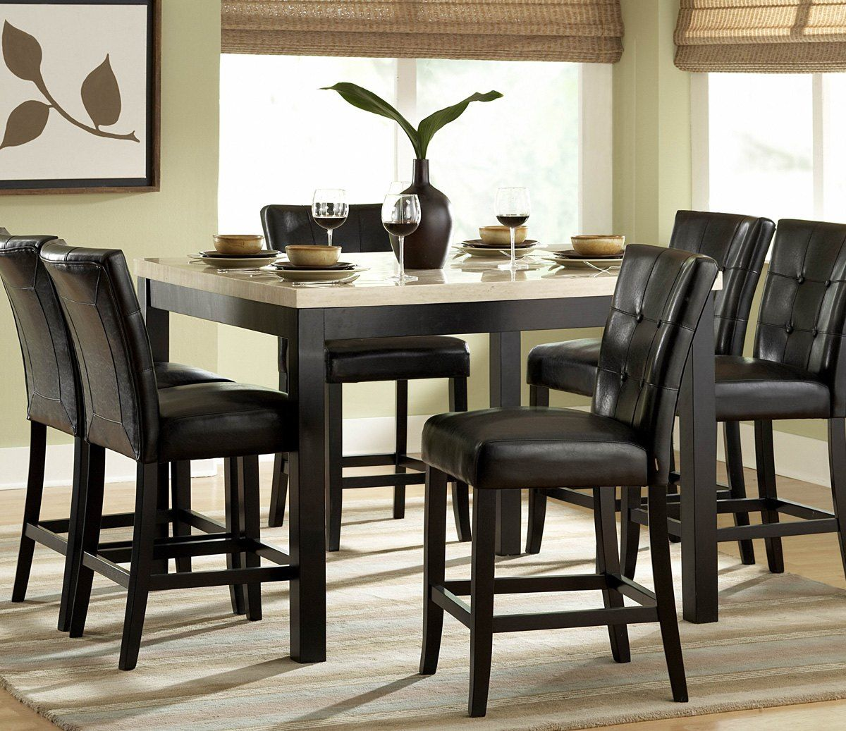 astounding 7 piece counter height dining set with leaf