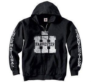 Case International Harvester Collegiate Zip Front Black Hooded Sweatshirt New Sweatshirts Country Sweatshirts Hooded Sweatshirts