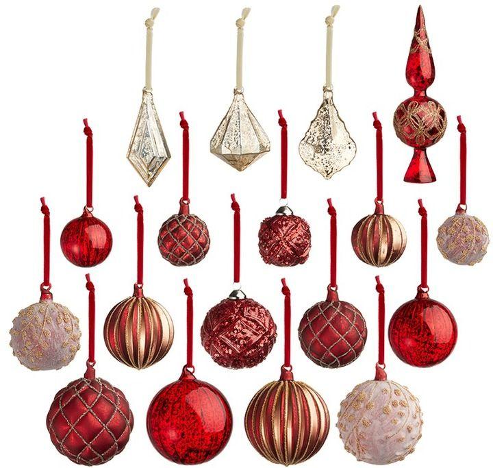 Matte /& Glitter Design Christmas Decorations Black Pack of 12-100mm Glitter Heart Shaped Christmas Tree Baubles