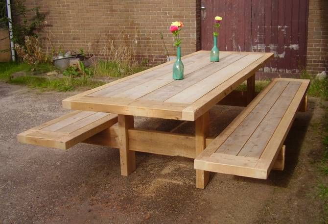 design wooden picknick table g rtnern pinterest. Black Bedroom Furniture Sets. Home Design Ideas