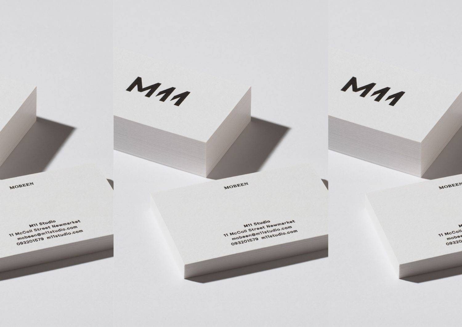 New branding for m11 studio by inhouse bpo brand identity brand identity and business cards for auckland based luxe salon m11 designed by inhouse new zealand reheart Image collections