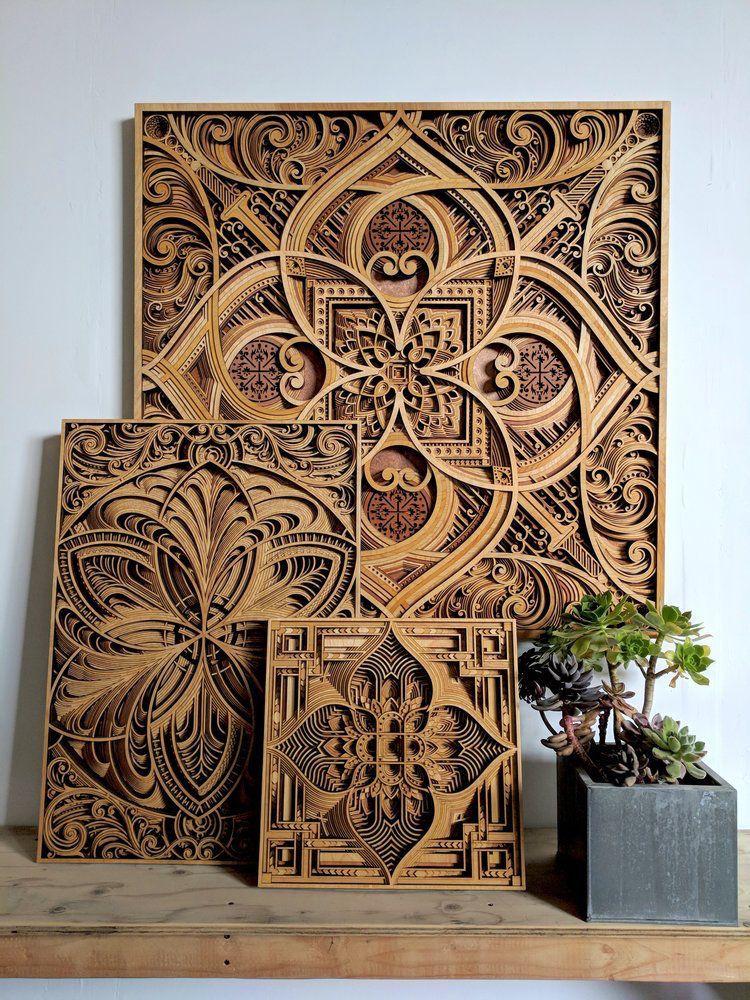 Beroemd Mesmerizing Laser-Cut Wood Sculptures Feature Layers of Intricate @KA76