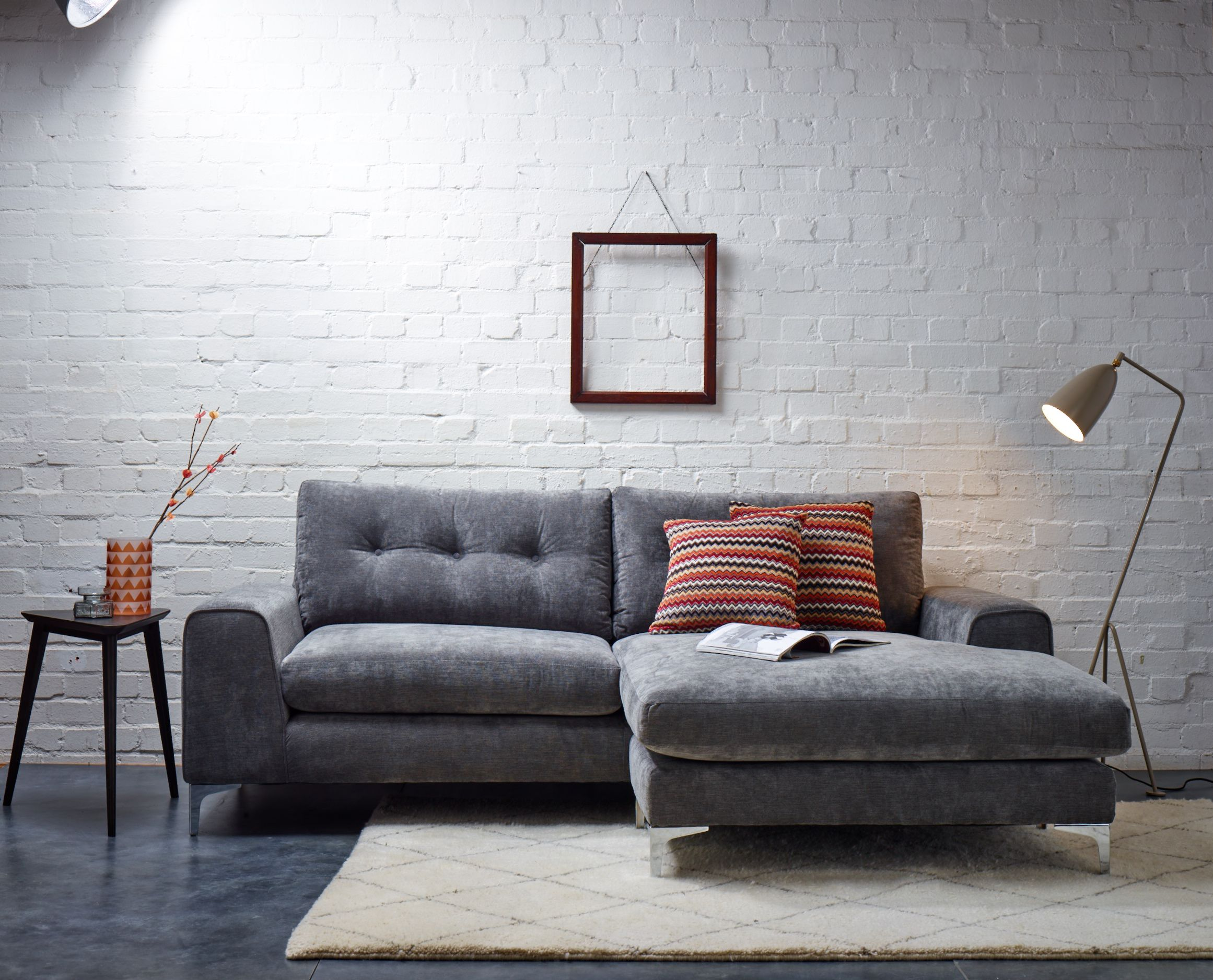 With its eye catching design this sofa is pure chic This will