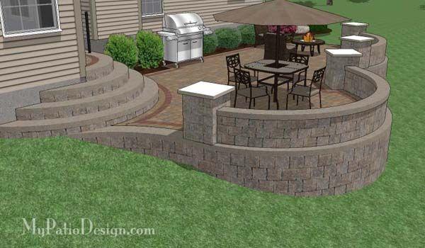 The 25+ best Patio ideas sloped backyard ideas on ... on Patio On A Slope Ideas id=42333