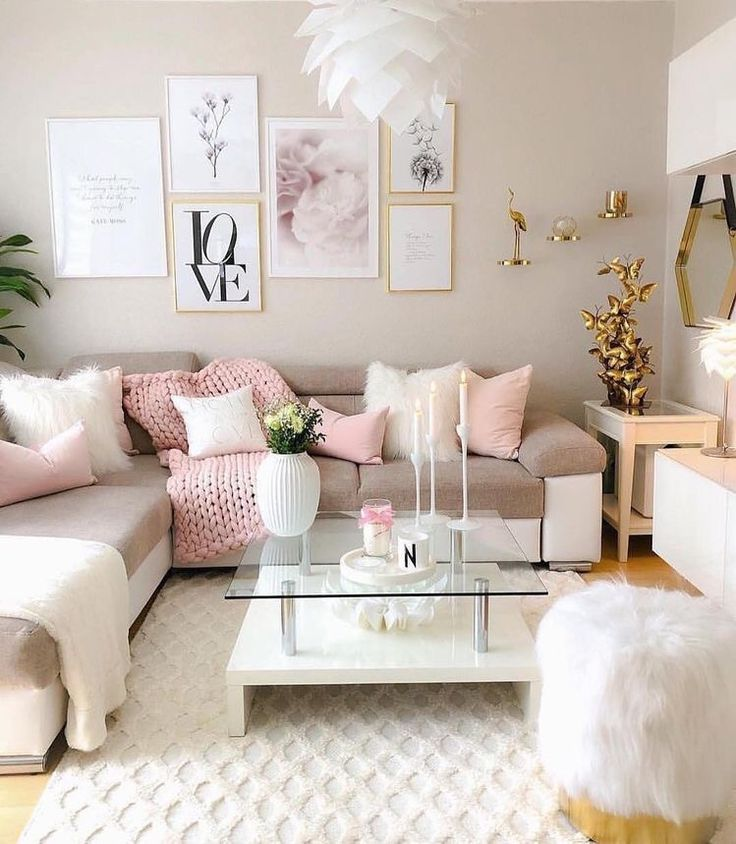 simply pink living room  pink living room girly living